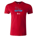 2014 FIFA World Cup Brazil(TM) Men's Premium All In One Rhythm T-Shirt (Red)