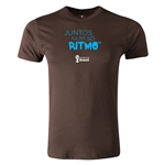 2014 FIFA World Cup Brazil(TM) Men's Fashion Portugese All In One Rhythm T-Shirt (Brown)