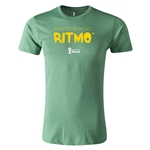 2014 FIFA World Cup Brazil(TM) Men's Fashion Portugese All In One Rhythm T-Shirt (Heather Green)