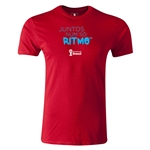 2014 FIFA World Cup Brazil(TM) Men's Premium Portugese All In One Rhythm T-Shirt (Red)