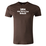 2014 FIFA World Cup Brazil(TM) Men's Premium Logotype T-Shirt (Brown)