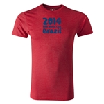 2014 FIFA World Cup Brazil(TM) Men's Premium Logotype T-Shirt (Heather Red)