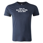 2014 FIFA World Cup Brazil(TM) Men's Premium Portugese Logotype T-Shirt (Navy)