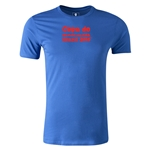 2014 FIFA World Cup Brazil(TM) Men's Fashion Portugese Logotype T-Shirt (Royal)