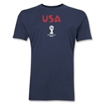 USA 2014 FIFA World Cup Brazil(TM) Men's Premium Core T-Shirt (Navy)