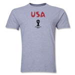 USA 2014 FIFA World Cup Brazil(TM) Men's Premium Core T-Shirt (Grey)