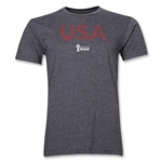 USA 2014 FIFA World Cup Brazil(TM) Men's Premium Elements T-Shirt (Dark Grey)
