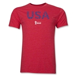 USA 2014 FIFA World Cup Brazil(TM) Men's Premium Elements T-Shirt (Heather Red)