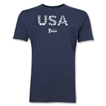 USA 2014 FIFA World Cup Brazil(TM) Men's Premium Elements T-Shirt (Navy)