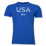 USA 2014 FIFA World Cup Brazil(TM) Men's Premium Elements T-Shirt (Royal)