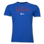USA 2014 FIFA World Cup Brazil(TM) Men's Premium Elements T-Shirt (White)