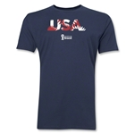 USA 2014 FIFA World Cup Brazil(TM) Men's Premium Palm T-Shirt (Navy)