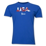 USA 2014 FIFA World Cup Brazil(TM) Men's Premium Palm T-Shirt (Royal)