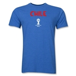 Chile 2014 FIFA World Cup Brazil(TM) Men's Premium Core T-Shirt (Heather Royal)