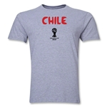 Chile 2014 FIFA World Cup Brazil(TM) Men's Premium Core T-Shirt (Grey)