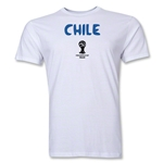 Chile 2014 FIFA World Cup Brazil(TM) Men's Premium Core T-Shirt (White)