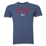 Chile 2014 FIFA World Cup Brazil(TM) Men's Premium Elements T-Shirt (Blue)
