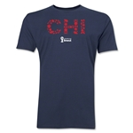 Chile 2014 FIFA World Cup Brazil(TM) Men's Premium Elements T-Shirt (Navy)