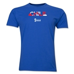 Chile 2014 FIFA World Cup Brazil(TM) Men's Premium Palm T-Shirt (Royal)