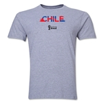 Chile 2014 FIFA World Cup Brazil(TM) Men's Premium Palm T-Shirt (Grey)
