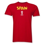 Spain 2014 FIFA World Cup Brazil(TM) Men's Premium Core T-Shirt (Red)