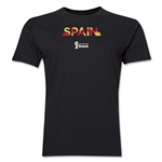Spain 2014 FIFA World Cup Brazil(TM) Men's Premium Palm T-Shirt (Black)