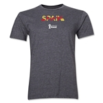 Spain 2014 FIFA World Cup Brazil(TM) Men's Premium Palm T-Shirt (Dark Grey)
