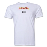 Spain 2014 FIFA World Cup Brazil(TM) Men's Premium Palm T-Shirt (White)