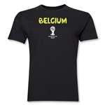 Belgium 2014 FIFA World Cup Brazil(TM) Men's Premium Core T-Shirt (Black)