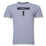 Belgium 2014 FIFA World Cup Brazil(TM) Men's Premium Core T-Shirt (Grey)