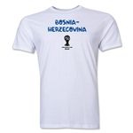 Bosnia-Herzegovina 2014 FIFA World Cup Brazil(TM) Men's Premium Core T-Shirt (White)