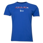 Costa Rica 2014 FIFA World Cup Brazil(TM) Men's Premium Palm T-Shirt (Royal)