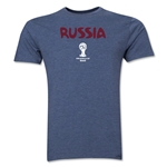 Russia 2014 FIFA World Cup Brazil(TM) Men's Premium Core T-Shirt (Blue)