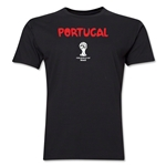 Portugal 2014 FIFA World Cup Brazil(TM) Men's Premium Core T-Shirt (Black)