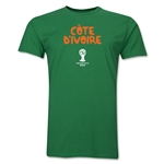 Cote d'Ivoire 2014 FIFA World Cup Brazil(TM) Men's Premium Core T-Shirt (Green)