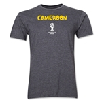 Cameroon 2014 FIFA World Cup Brazil(TM) Men's Premium Core T-Shirt (Dark Grey)