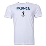 France 2014 FIFA World Cup Brazil(TM) Men's Premium Core T-Shirt (White)