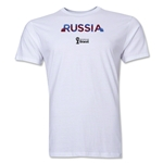 Russia 2014 FIFA World Cup Brazil(TM) Men's Premium Palm T-Shirt (White)