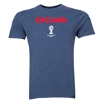 England 2014 FIFA World Cup Brazil(TM) Men's Premium Core T-Shirt (Blue)