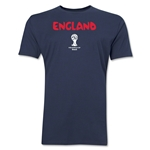 England 2014 FIFA World Cup Brazil(TM) Men's Premium Core T-Shirt (Navy)