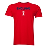 England 2014 FIFA World Cup Brazil(TM) Men's Premium Core T-Shirt (Red)