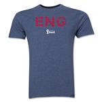 England 2014 FIFA World Cup Brazil(TM) Men's Premium Elements T-Shirt (Blue)
