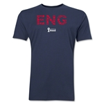England 2014 FIFA World Cup Brazil(TM) Men's Premium Elements T-Shirt (Navy)