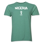 Nigeria 2014 FIFA World Cup Brazil(TM) Men's Premium Core T-Shirt (Heather Green)