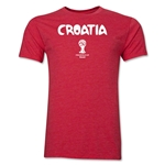 Croatia 2014 FIFA World Cup Brazil(TM) Men's Premium Core T-Shirt (Heather Red)