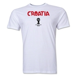 Croatia 2014 FIFA World Cup Brazil(TM) Men's Premium Core T-Shirt (White)