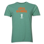 Cote d'Ivoire 2014 FIFA World Cup Brazil(TM) Men's Premium Core T-Shirt (Heather Green)