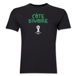 Cote d'Ivoire 2014 FIFA World Cup Brazil(TM) Men's Premium Core T-Shirt (Black)