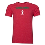 Cameroon 2014 FIFA World Cup Brazil(TM) Men's Premium Core T-Shirt (Heather Red)