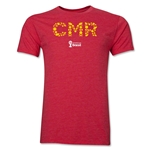 Cameroon 2014 FIFA World Cup Brazil(TM) Men's Premium Elements T-Shirt (Heather Red)